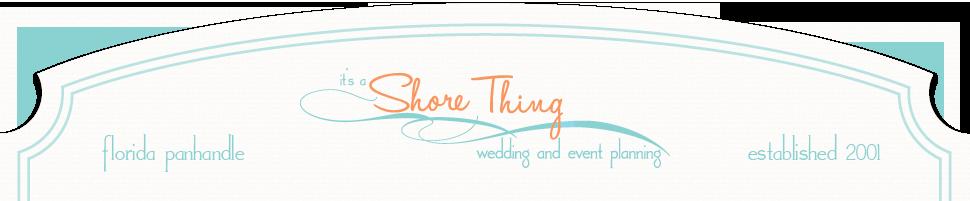 It's a Shore Thing | Full Service Destination Wedding Coordinators | Rosemary Beach Florida logo